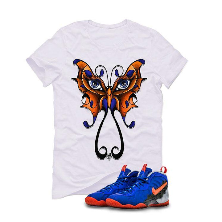 Nerf Nike Little Posite Pro GS White T (BUTTERFLY)