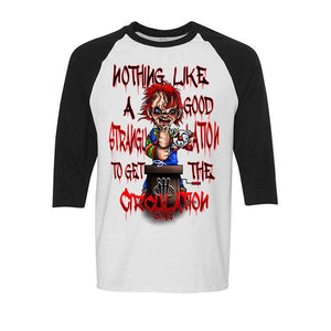Halloween Collection 2017 White and Black Baseball T (CHUCKY)