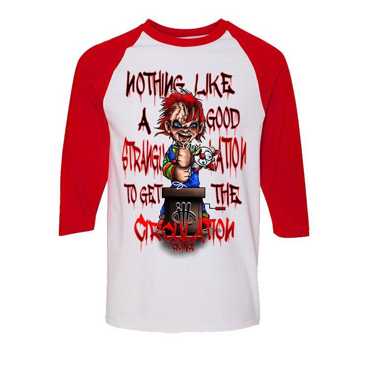 Halloween Collection 2017 White and Red Baseball T (CHUCKY)