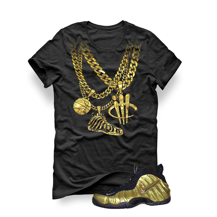 Nike Air Foamposite Pro Metallic Gold Black T (Chain)