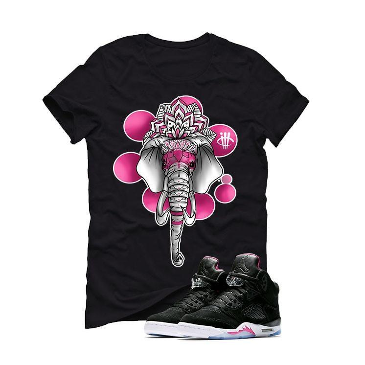 Air Jordan 5 GS Deadly Pink Black T (ELEPHANT)
