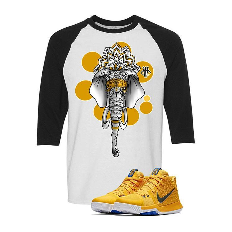 Nike Kyrie 3 Mac and Cheese Kids White & Black Baseball T (ELEPHANT)
