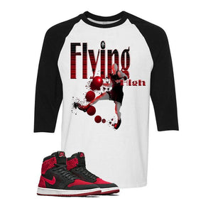 "Air Jordan 1 Flyknit ""Banned"" Baseball T (FLYING HIGH)"