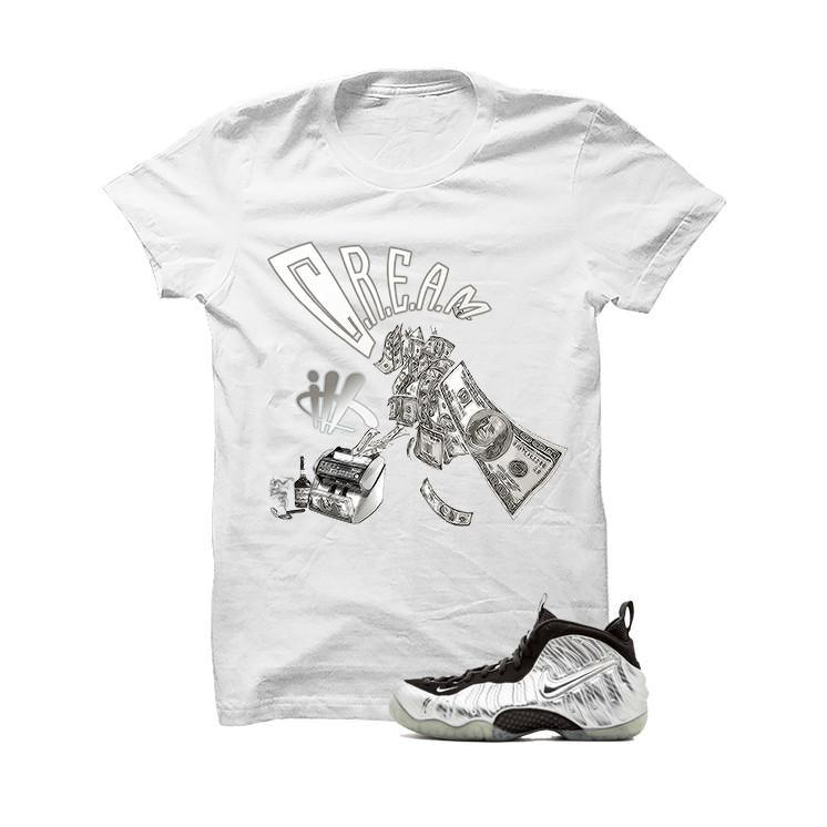 Foamposite Pro Silver Surfer White T Shirt (Cream)