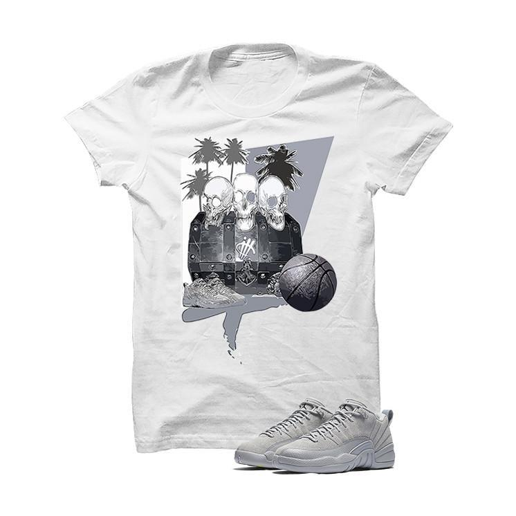 Jordan 12 Low Wolf Grey White T Shirt (Dead Island)