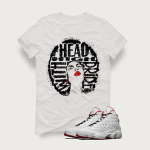 "Air Jordan 13 ""History of Flight"" White T (HEAD HIGH)"