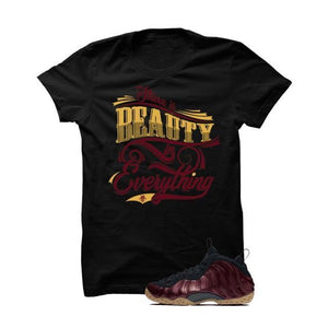 Foamposite One Maroon Black T Shirt (Beauty)