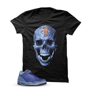 Jordan 3 Dark Purple Dust White T Shirt (Skull Head)
