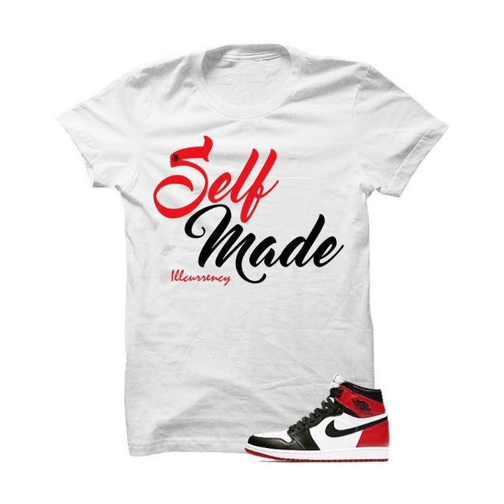 Jordan 1 Og Black Toe White T Shirt (Self Made)