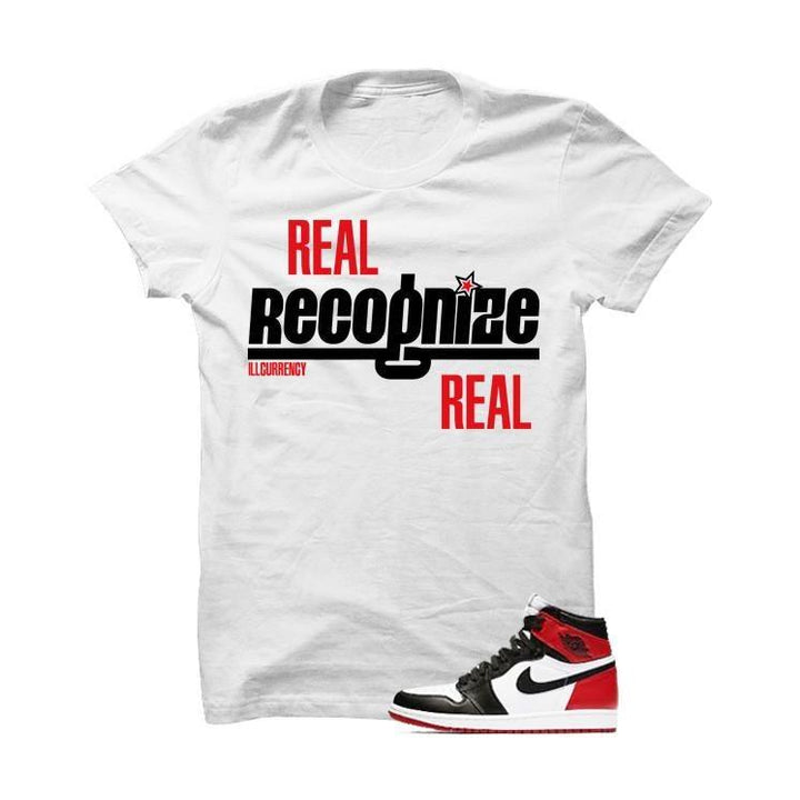 Jordan 1 Og Black Toe White T Shirt (Real Recognized Real)