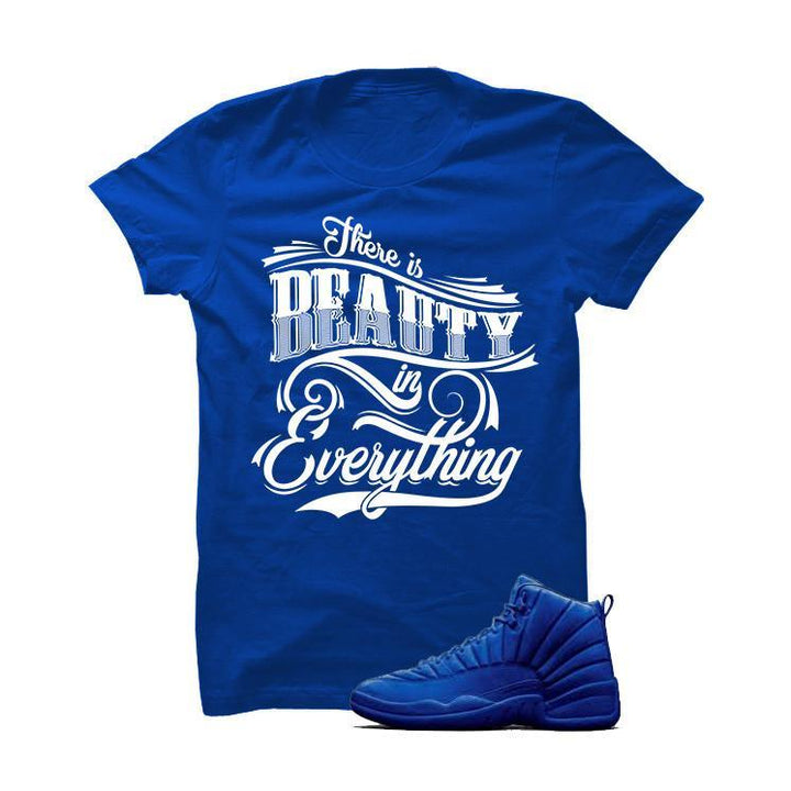 Jordan 12 Blue Suede Royal Blue T Shirt (Beauty)