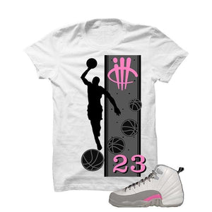 Jordan 12 Gs Vivid Pink White T Shirt (Mj)