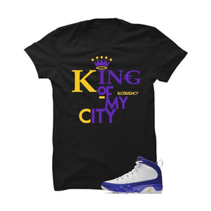 Jordan 9 Lakers Black T Shirt (King Of My City)