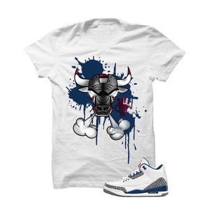 Jordan 3 Og True Blue White T Shirt (Iron Bull)