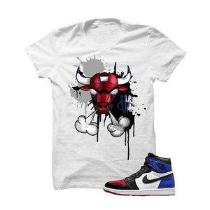 Jordan 1 Top 3 White T Shirt (Iron Bull)