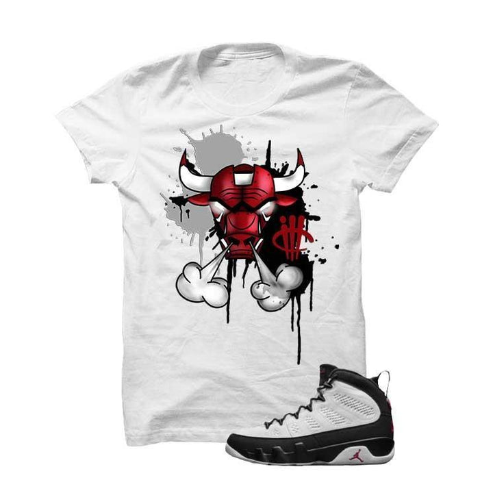 Jordan 9 Og True Red White T Shirt (Iron Bull)