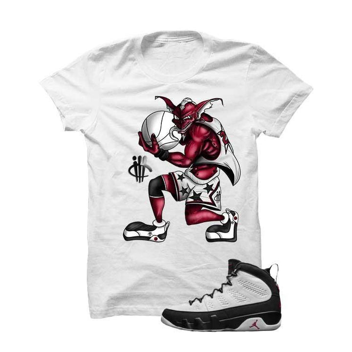 Jordan 9 Og True Red White T Shirt (Red Alien)