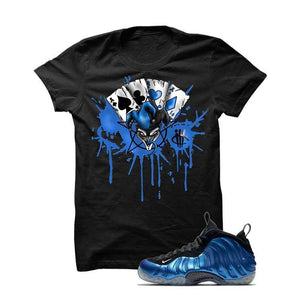 Foamposite One Og Royal Black T Shirt (Joker Cards)
