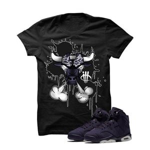 Jordan 6 Gs Dark Purple Black T Shirt (Bully)