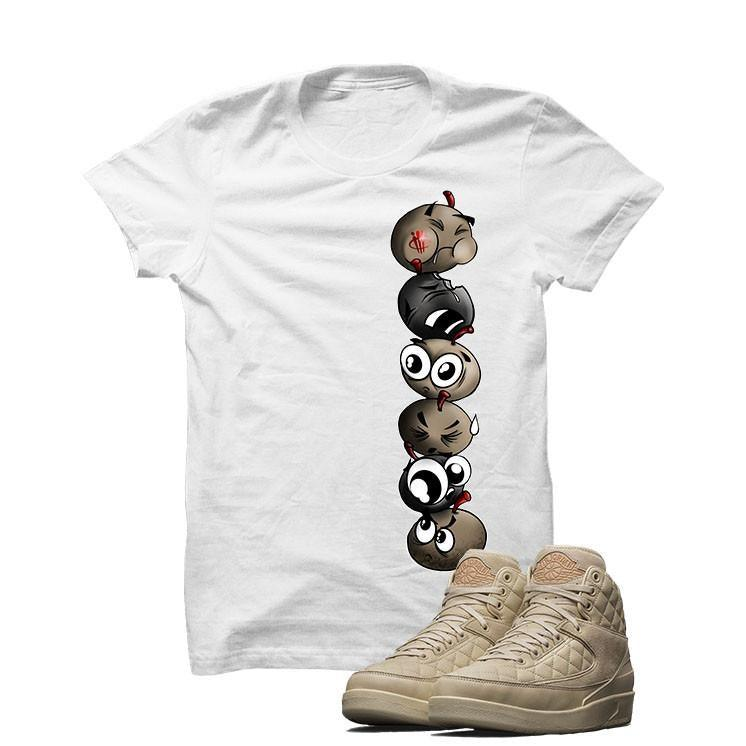 Jordan 2 Don C X Beach White T Shirt (Cherry Bombs)