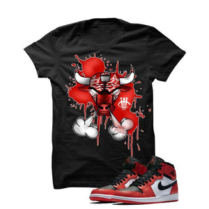 Jordan 1 Max Orange Black T Shirt (Iron Bull)