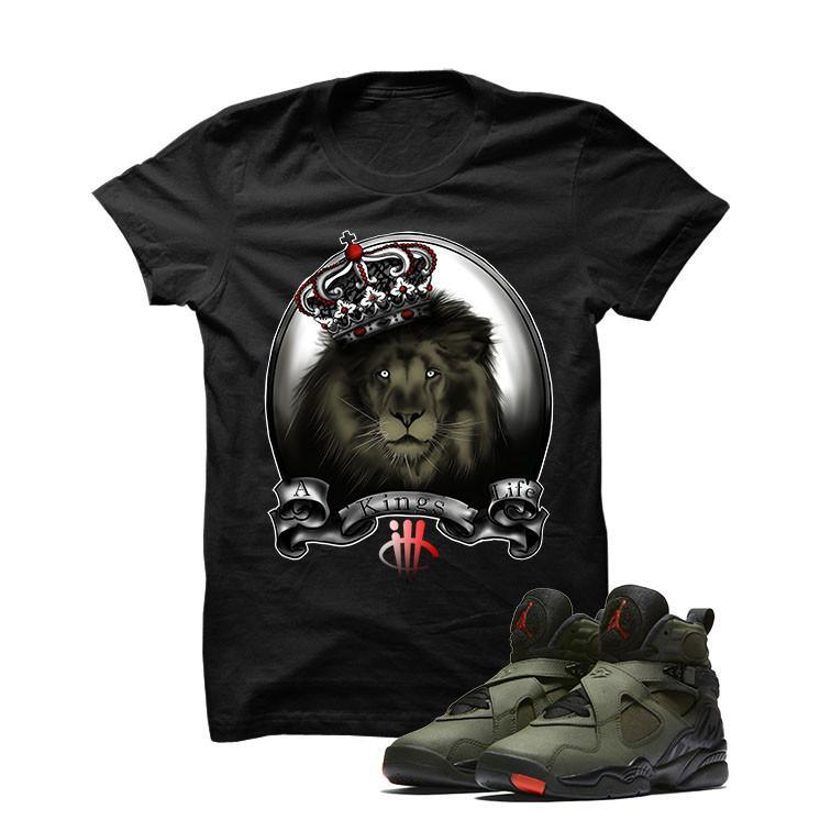 Jordan 8 Undefeated Black T Shirt (A Kings Life)