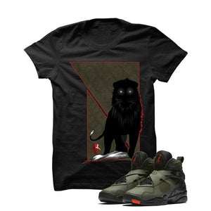Jordan 8 Undefeated Black T Shirt (Lion)
