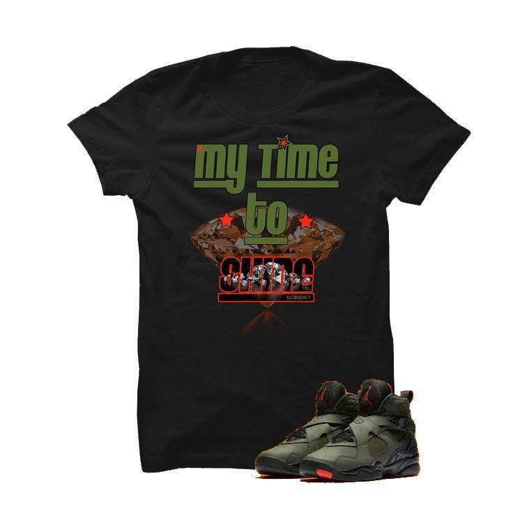 Jordan 8 Undefeated Black T Shirt (My Time To Shine)