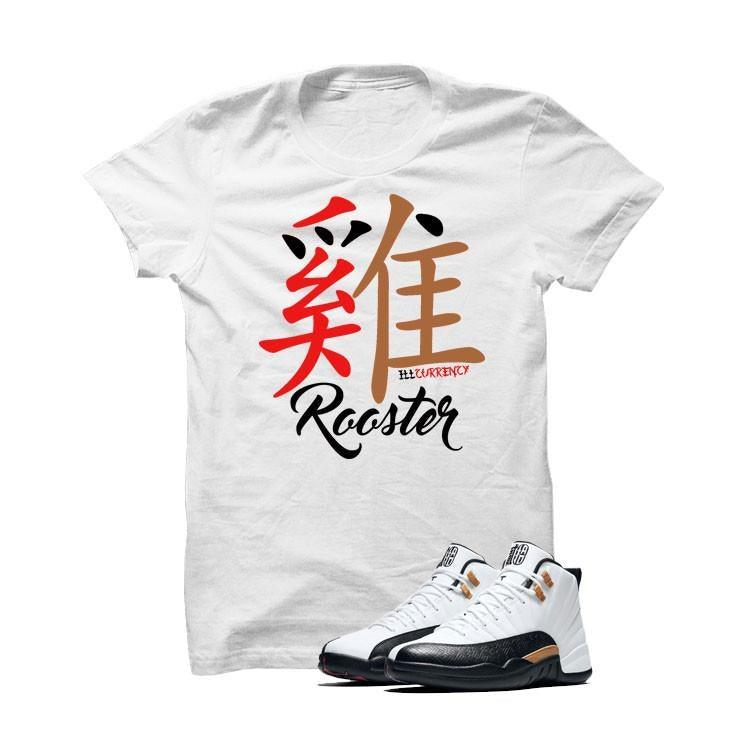Jordan 12 Chinese New Year White T Shirt (Rooster)