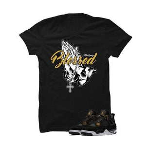 Jordan 4 Royalty Black T Shirt (Blessed)