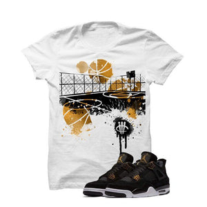 Jordan 4 Royalty White T Shirt (B Court)