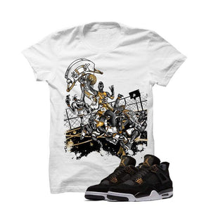 Jordan 4 Royalty White T Shirt (Alien Attack)