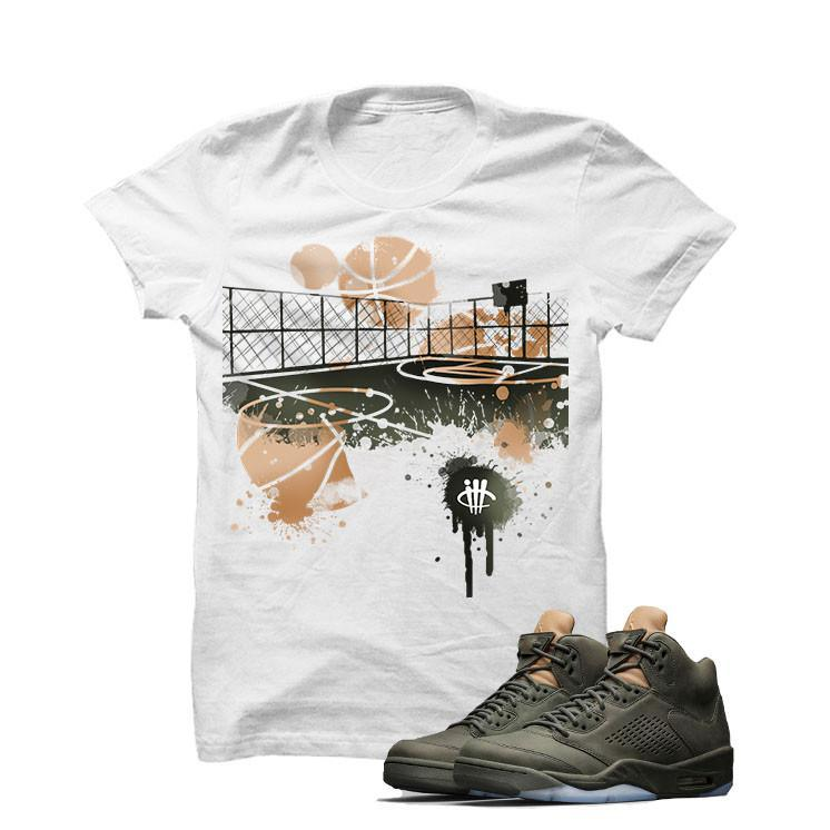 Jordan 5 Take Flight White T Shirt (B Court)