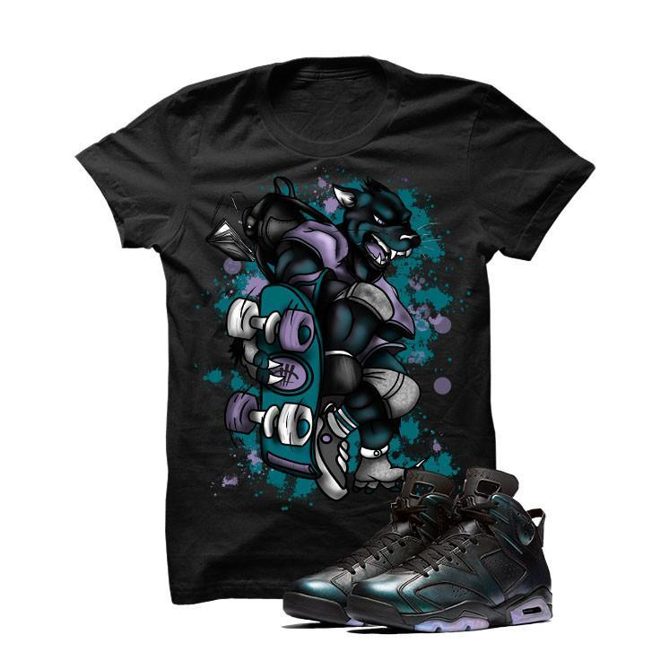 Jordan 6 All-Star Black T Shirt (Skateboard Cat)