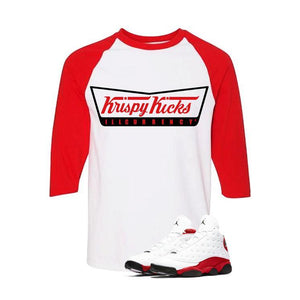 Jordan 13 Chicago White And Red Baseball T's (Krispy Kicks)