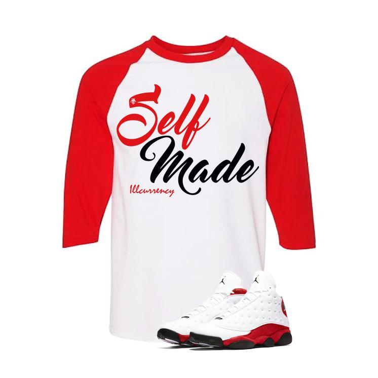 Jordan 13 Chicago White And Red Baseball T's (Self Made)