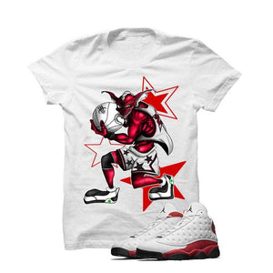 Jordan 13 Chicago White T Shirt (Monster Thief)