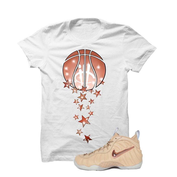 Foamposite Pro Vachetta Tan White T Shirt (Magic Ball)