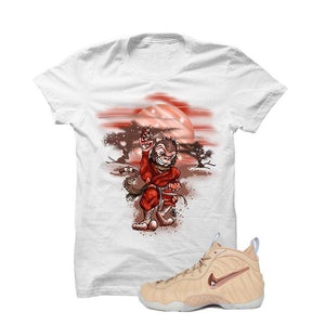 Foamposite Pro Vachetta Tan White T Shirt (Ninja Monkey)