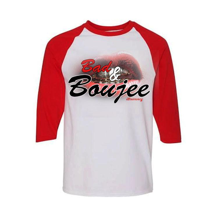 Jordan 13 Chicago White And Red Baseball T's (Bad & Boujee)