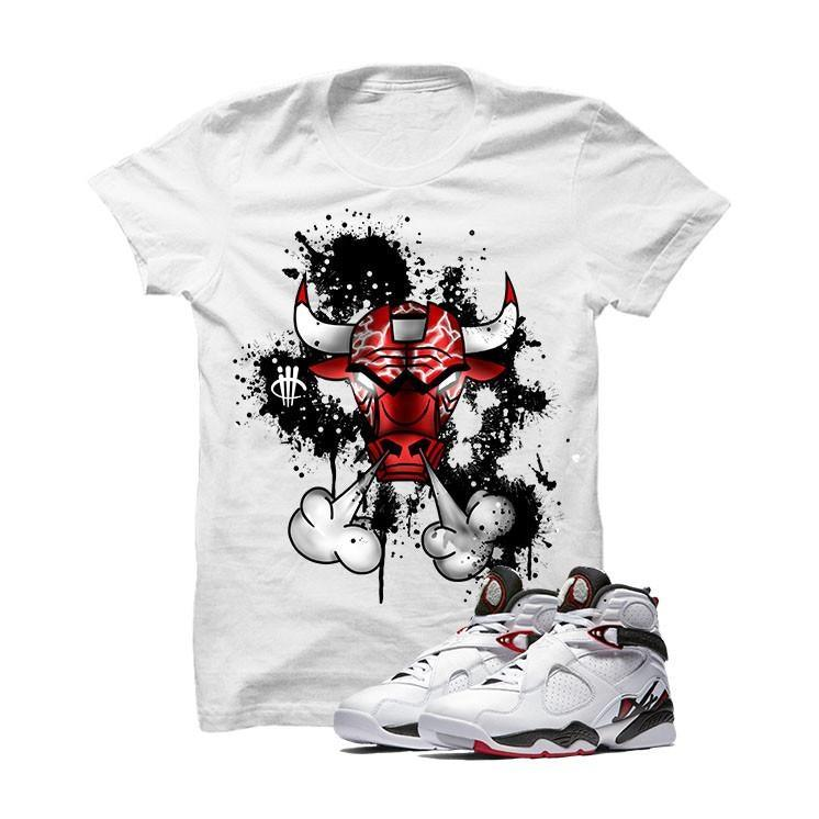 Jordan 8 Alternate White T Shirt (Iron Bull)