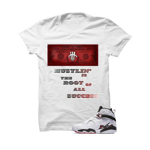 Jordan 8 Alternate White T Shirt (Hustling)