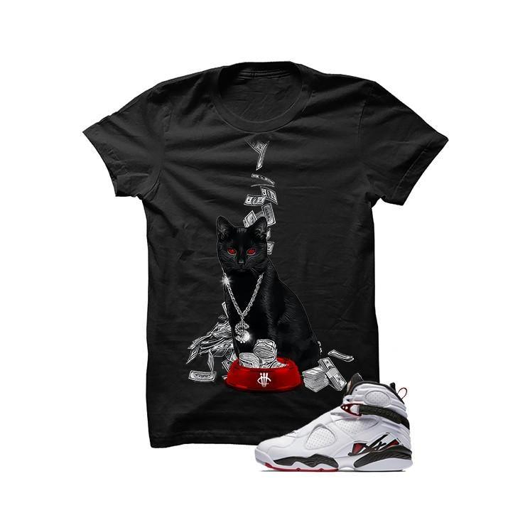 Jordan 8 Alternate Black T Shirt (Money Cat)