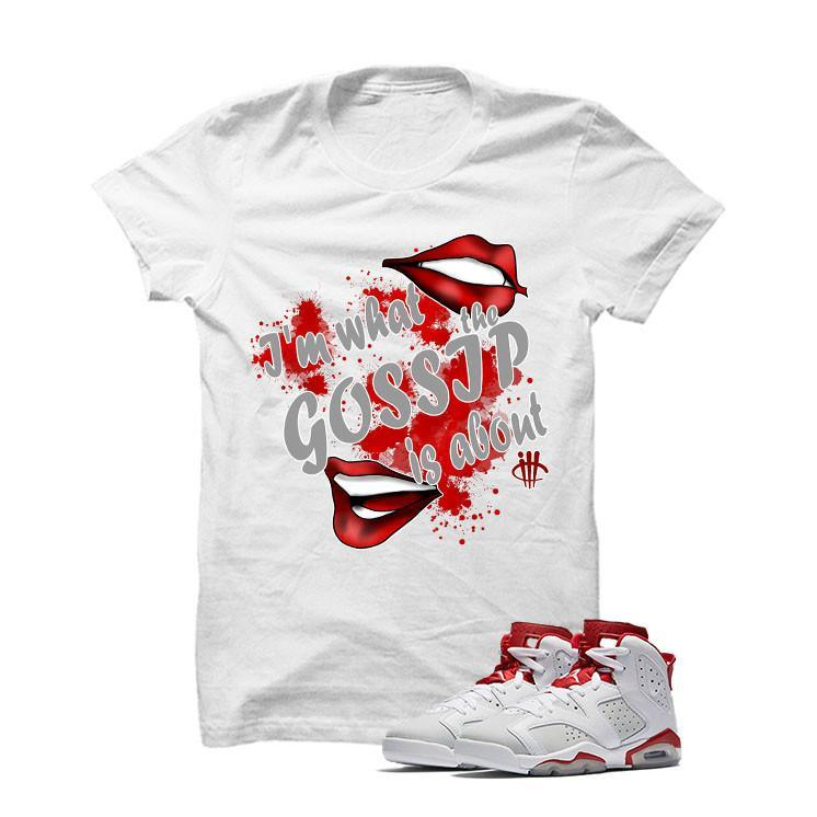 Jordan 6 Alternate White T Shirt (Gossip)