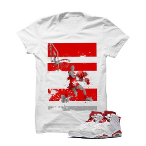 Jordan 6 Alternate White T Shirt (Reverse Dunk)