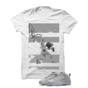 Jordan 12 Low Wolf Grey White T Shirt (Reverse Dunk)