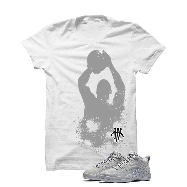 Jordan 12 Low Wolf Grey White T Shirt (Shooting)