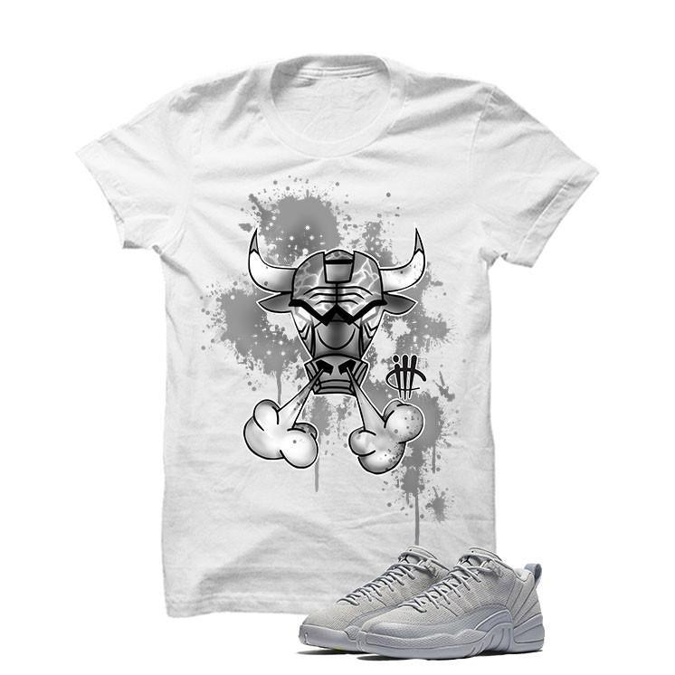 Jordan 12 Low Wolf Grey White T Shirt (Iron Bull)