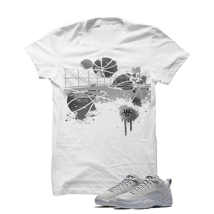 Jordan 12 Low Wolf Grey White T Shirt (B Court)