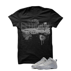 Jordan 12 Low Wolf Grey Black T Shirt (B Court)